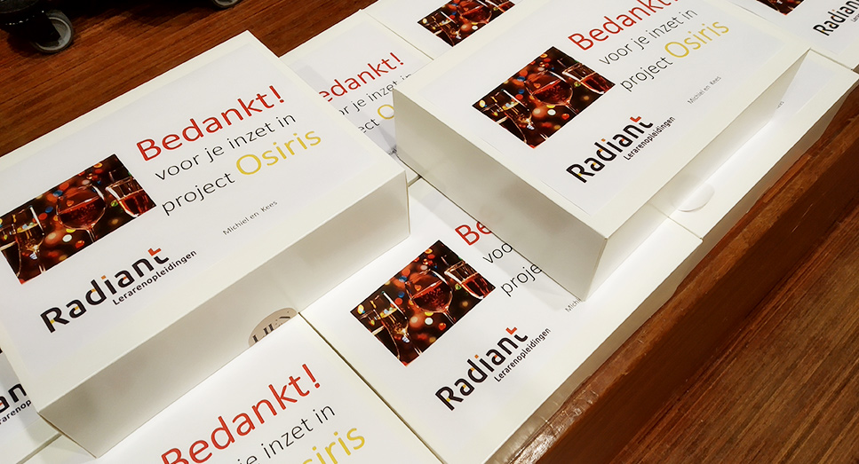 Radiant lerarenopleidingen live met OSIRIS